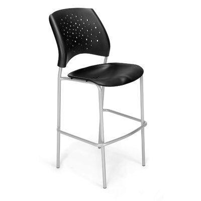 Stars and Moon 31.25 Bar Stool Base Finish: Silver, Upholstery: None (Black Plastic)