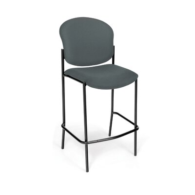 Manor Series 30.5 Bar Stool Upholstery: Gray