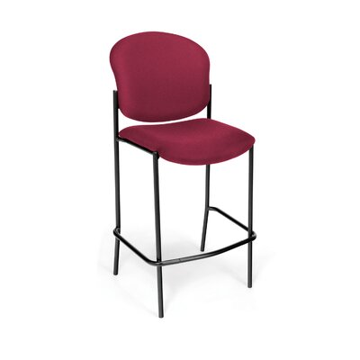 Manor Series 30.5 Bar Stool Upholstery: Wine