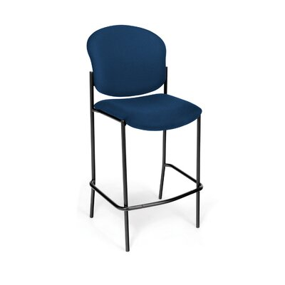 Manor Series 30.5 Bar Stool Upholstery: Navy