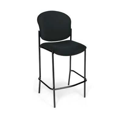 Manor Series 30.5 Bar Stool Upholstery: Black