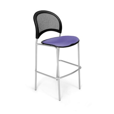 Stars and Moon Cafe Height Chair Base Finish: Silver, Seat Cover: Lavender