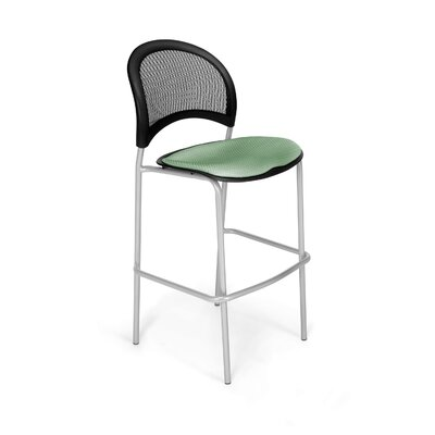 Stars and Moon Cafe Height Chair Base Finish: Silver, Seat Cover: Sage Green