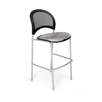Stars and Moon Cafe Height Chair Base Finish: Silver, Seat Cover: Putty