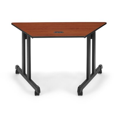 Training Table with Wheels Size: 24 H x 48 W, Tabletop Finish: Cherry