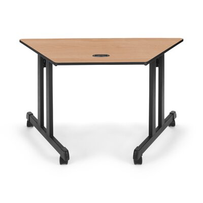 Training Table with Wheels Size: 24 H x 48 W, Tabletop Finish: Maple