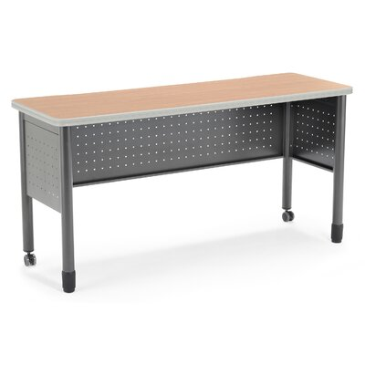 59 W Mesa Series Training Table with Wheels Tabletop Finish: Maple
