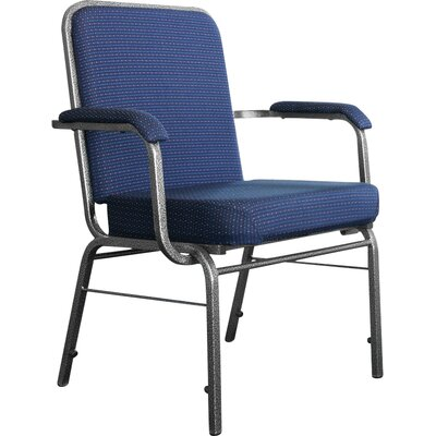 Big and Tall Mid-Back Stacking Chair with Cushion Seat Finish: Navy