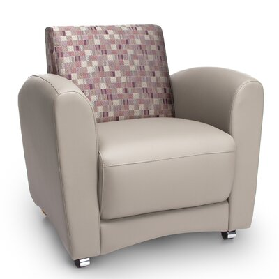InterPlay Series Upholstered Guest / Reception Chair Color: Geometrix Plum and Taupe
