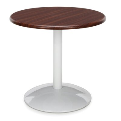 Orbit Round Table Top Finish: Mahogany, Size: 23 H x 36 W x 36 D
