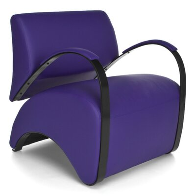 Recoil Lounge Chair Color: Purple