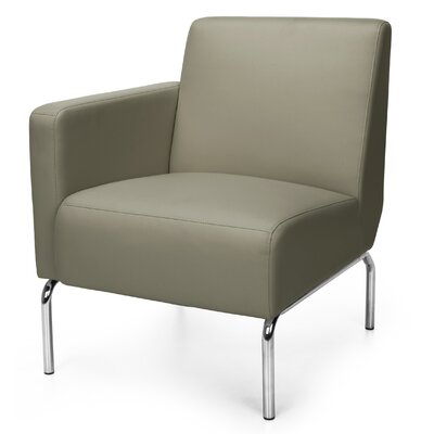 Triumph Series Lounge Chair Color: Taupe, Arm Options: Right