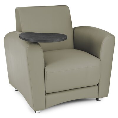InterPlay Chair with Tablet Color: Taupe, Tablet Finish: Tungsten