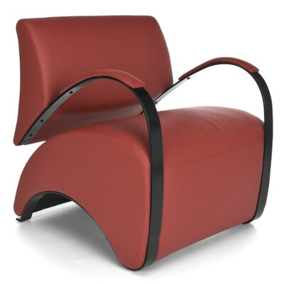 Recoil Lounge Chair Color: Red