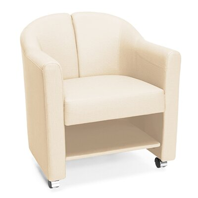 Club Guest Chair Color: Linen Cream