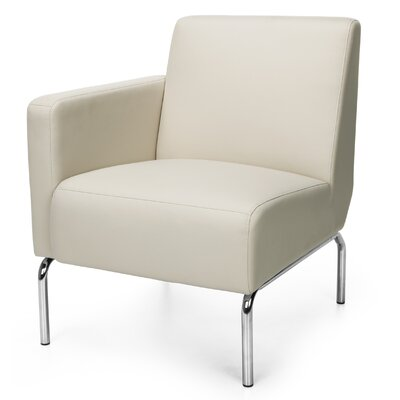 Triumph Series Lounge Chair Color: Cream, Arm Options: Right