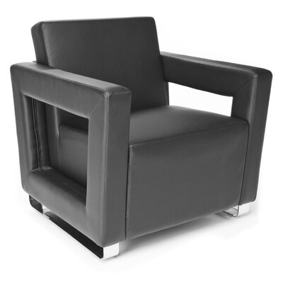 Distinct Series Vinyl Guest / Reception Chair Color: Black
