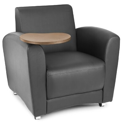 InterPlay Chair with Tablet Color: Black, Tablet Finish: Bronze