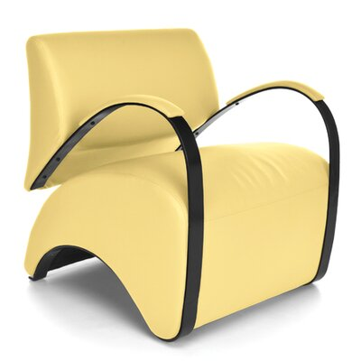 Recoil Lounge Chair Color: Yellow