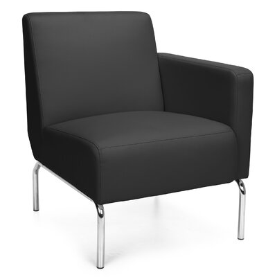 Triumph Series Lounge Chair Color: Black, Arm Options: Left