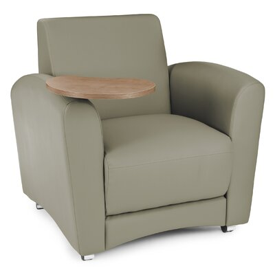 InterPlay Chair with Tablet Color: Taupe, Tablet Finish: Bronze