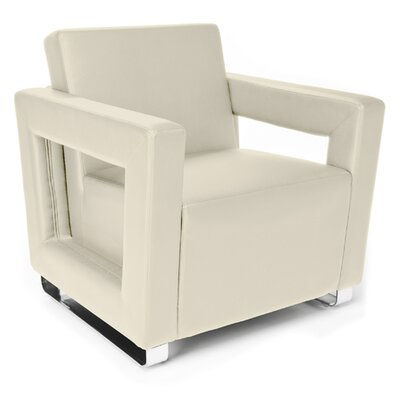 Distinct Series Vinyl Guest / Reception Chair Color: Cream