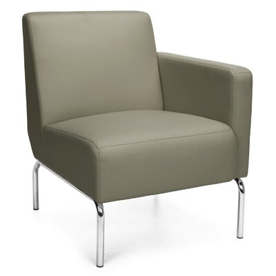 Triumph Series Lounge Chair Color: Taupe, Arm Options: Left