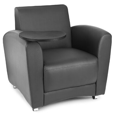 InterPlay Chair with Tablet Tablet Finish: Tungsten, Color: Black