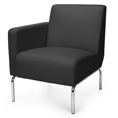 Triumph Series Lounge Chair Color: Black, Arm Options: Right
