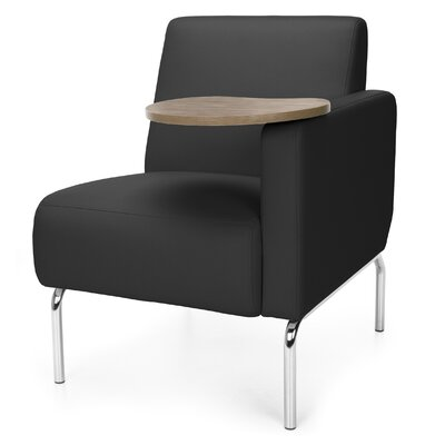 Triumph Series Lounge Chair with Tablet Color: Black, Finish: Bronze, Arm Options: Left