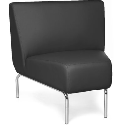 Triumph Series Armless 45 Degree Lounge Chair Color: Black