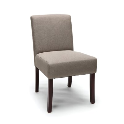 Onorato Armless Guest Chair Seat Color: Tan