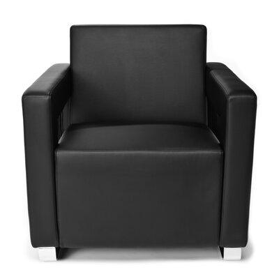 Distinct Series Vinyl Guest / Reception Chair Color: Black
