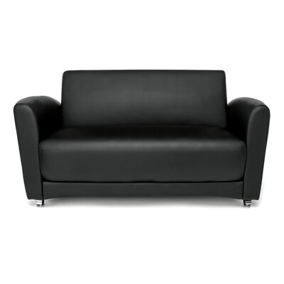 InterPlay Lounge Loveseat Upholstery: Black