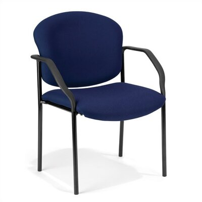 Manor Series Deluxe Upholstered Stacking Guest Chair Seat Finish: Fabric/Navy