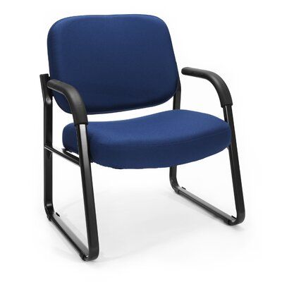 Big and Tall Upholstered Guest / Reception Chair with Arms Seat Color: Navy