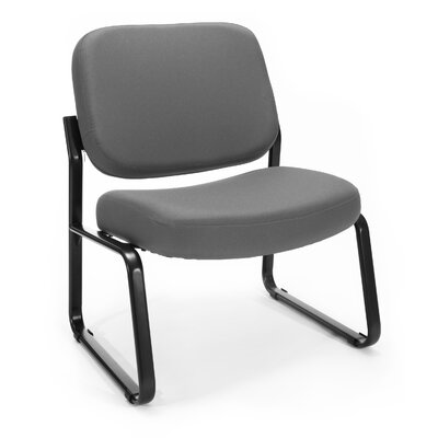 Big and Tall Upholstered Armless Guest / Reception Chair Seat Color: Gray