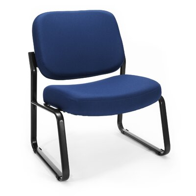 Big and Tall Upholstered Armless Guest / Reception Chair Seat Color: Navy