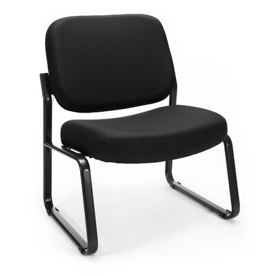 Big and Tall Upholstered Armless Guest / Reception Chair Seat Color: Black