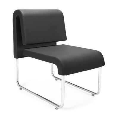 UNO Chair (Set of 2) Fabric: PVC Free Polyurethane, Color: Black