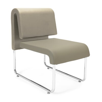 UNO Chair (Set of 2) Fabric: PVC Free Polyurethane, Color: Taupe