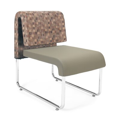 UNO Chair (Set of 2) Fabric: Fabric Back/PVC Free Polyurethane Seat, Color: Copper Back- Taupe Seat
