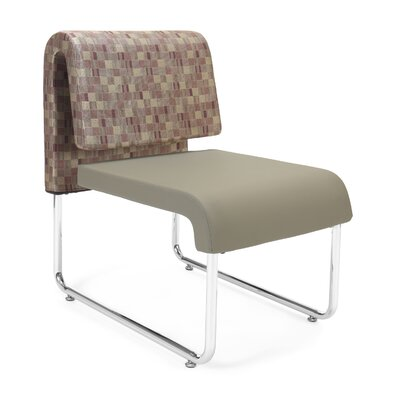 UNO Chair (Set of 2) Fabric: Fabric Back/PVC Free Polyurethane Seat, Color: Plum Back - Taupe Seat