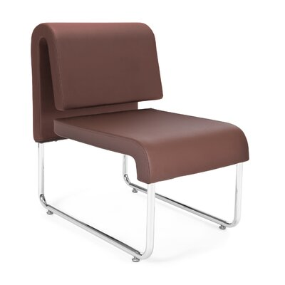 UNO Chair (Set of 2) Fabric: PVC Free Polyurethane, Color: Brown