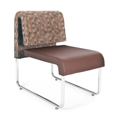 UNO Chair (Set of 2) Fabric: Fabric Back/PVC Free Polyurethane Seat, Color: Copper Back - Brown Seat