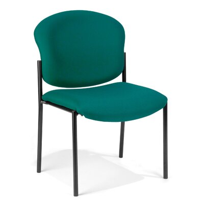 Oleanna Guest Arm Chair Seat Finish: Teal Vinyl
