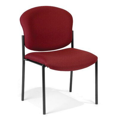 Oleanna Guest Arm Chair Seat Finish: Wine Vinyl
