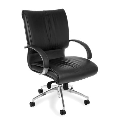 High-Back Leather Sharp Executive Chair with Arms Product Photo 1601