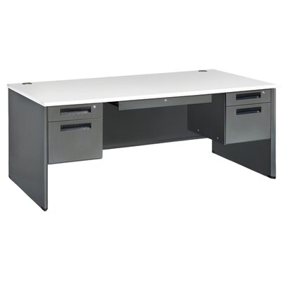 Mesa Series Panel End Computer Desk Color: Gray nebula Product Picture 1021