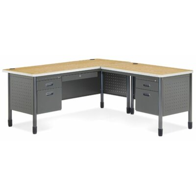 Computer Series Computer Desk with Optional Return Orientation: Right Return, Finish: Oak Product Picture 1021